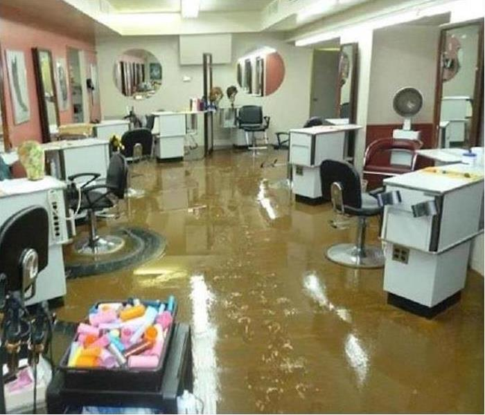 Valparaiso Flood Damaged Salon Before