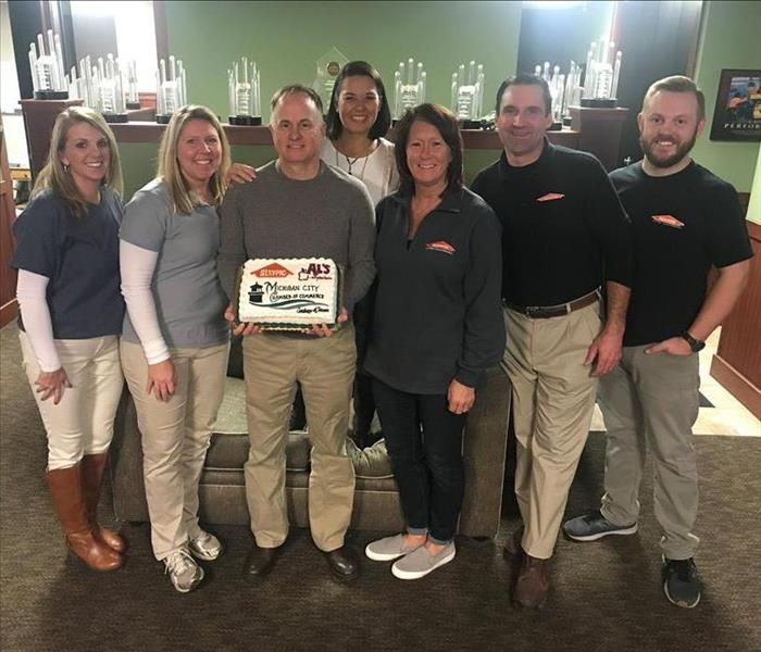 SERVPRO of Porter County Eats Cake at the Michigan City Chamber of Commerce
